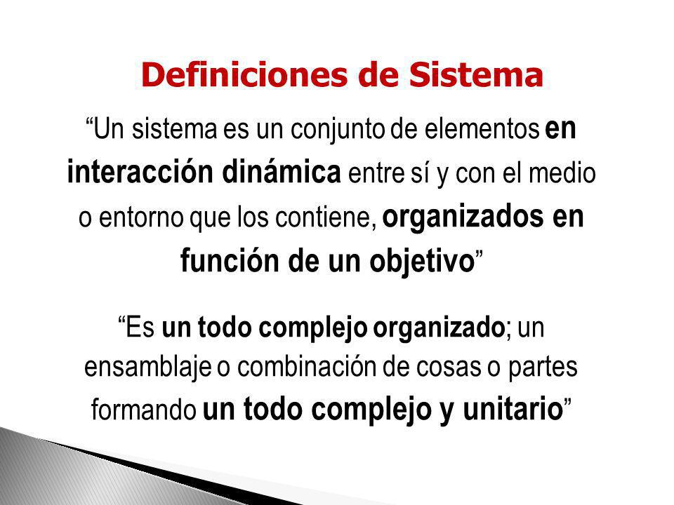 Definiciones de Sistema