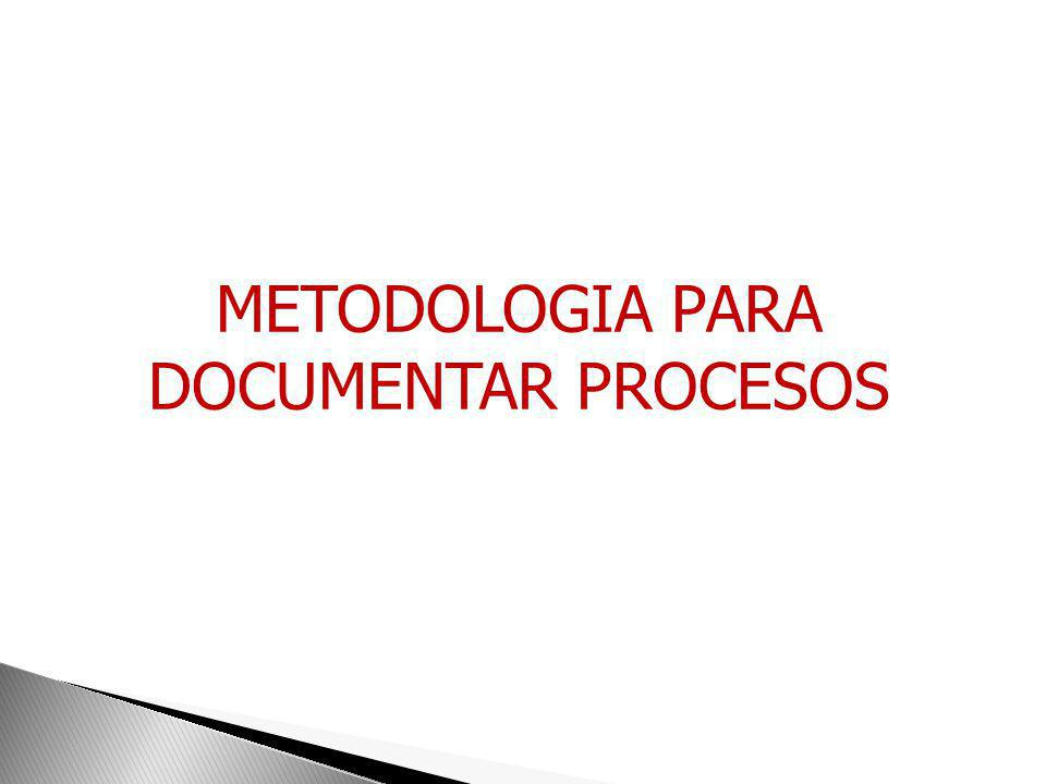 METODOLOGIA PARA DOCUMENTAR PROCESOS