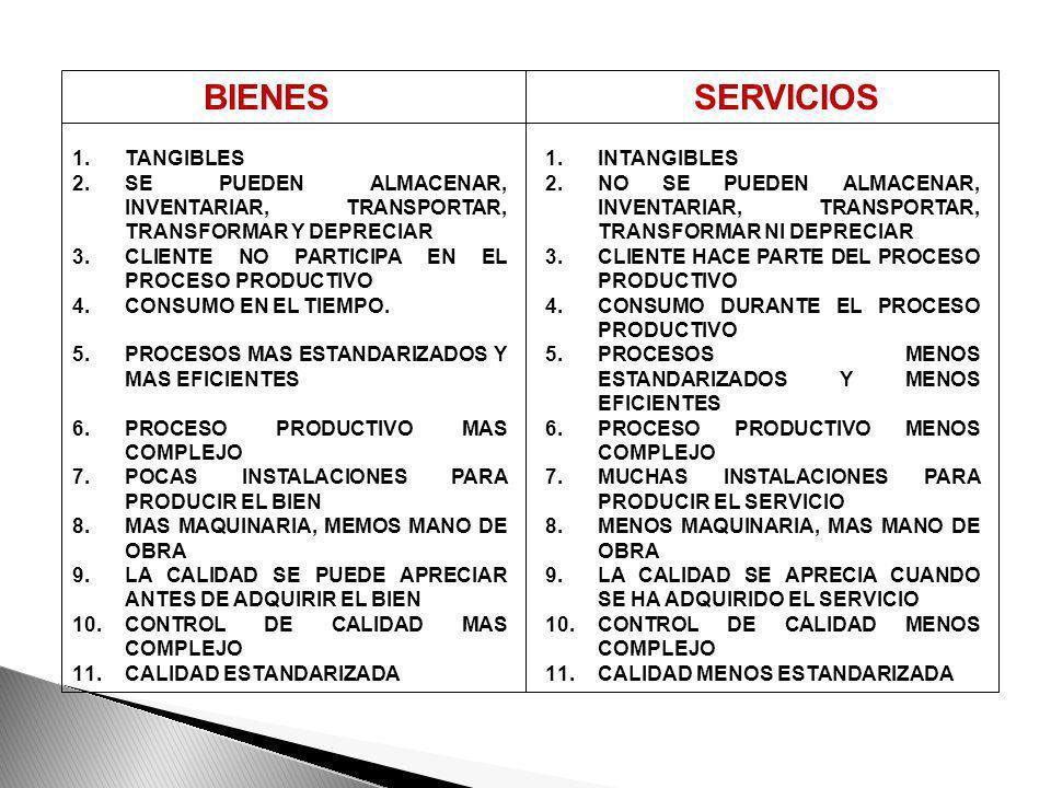 BIENES SERVICIOS TANGIBLES