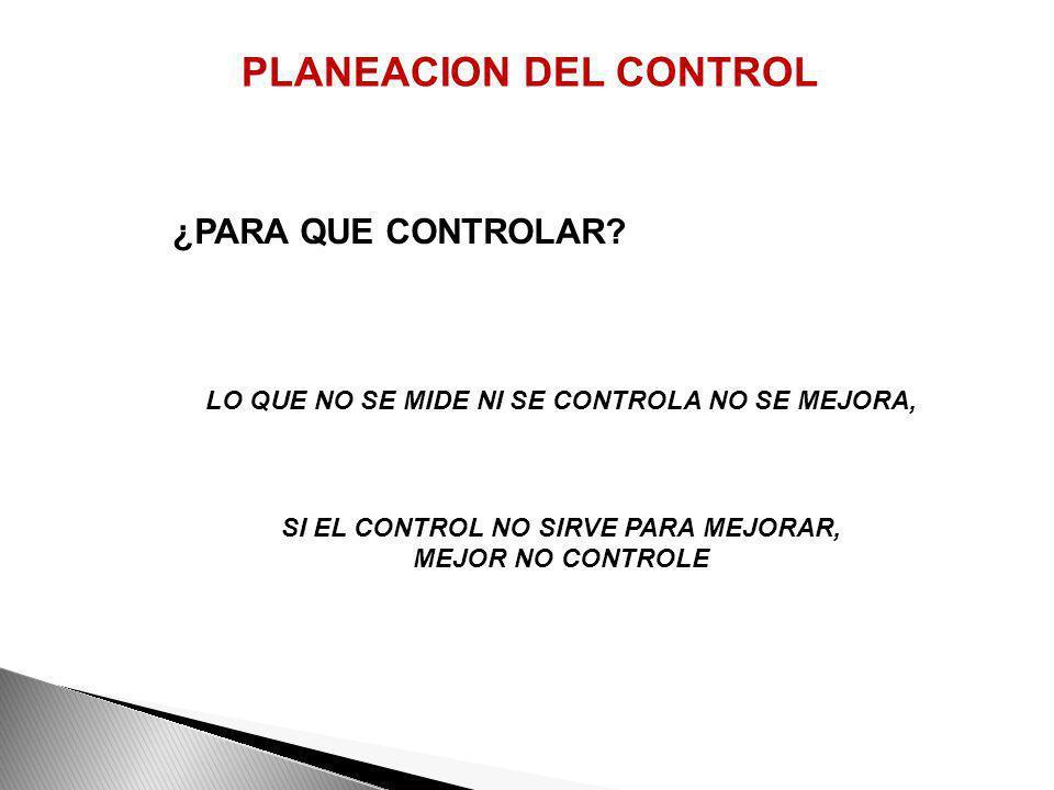 PLANEACION DEL CONTROL