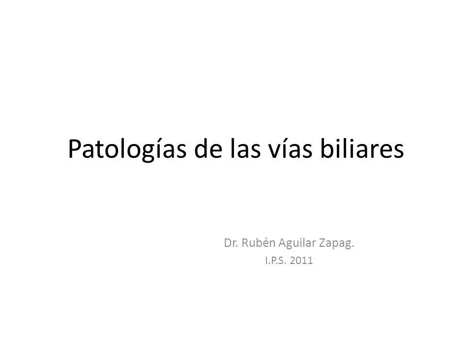Patologías de las vías biliares