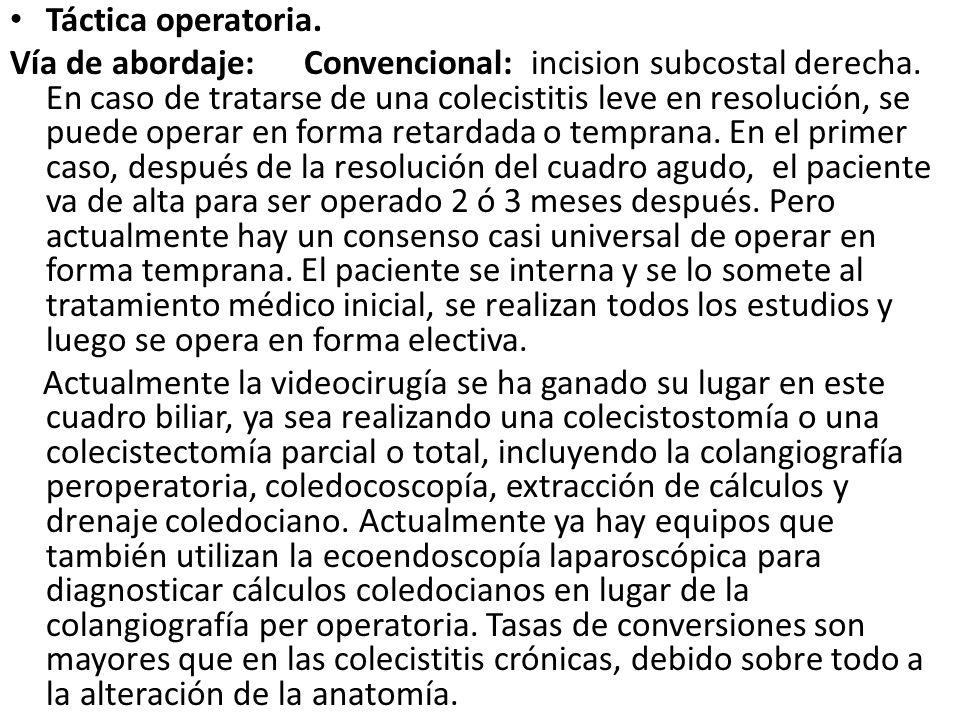 Táctica operatoria.
