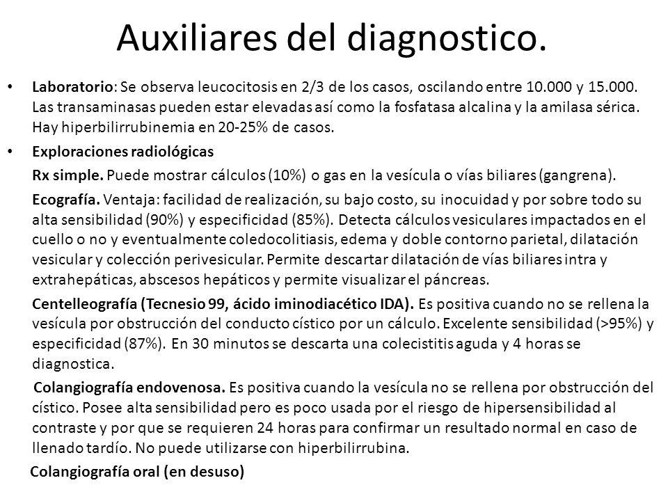 Auxiliares del diagnostico.