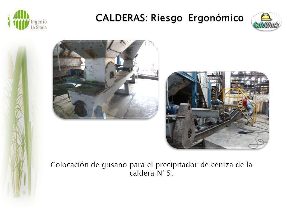 CALDERAS: Riesgo Ergonómico