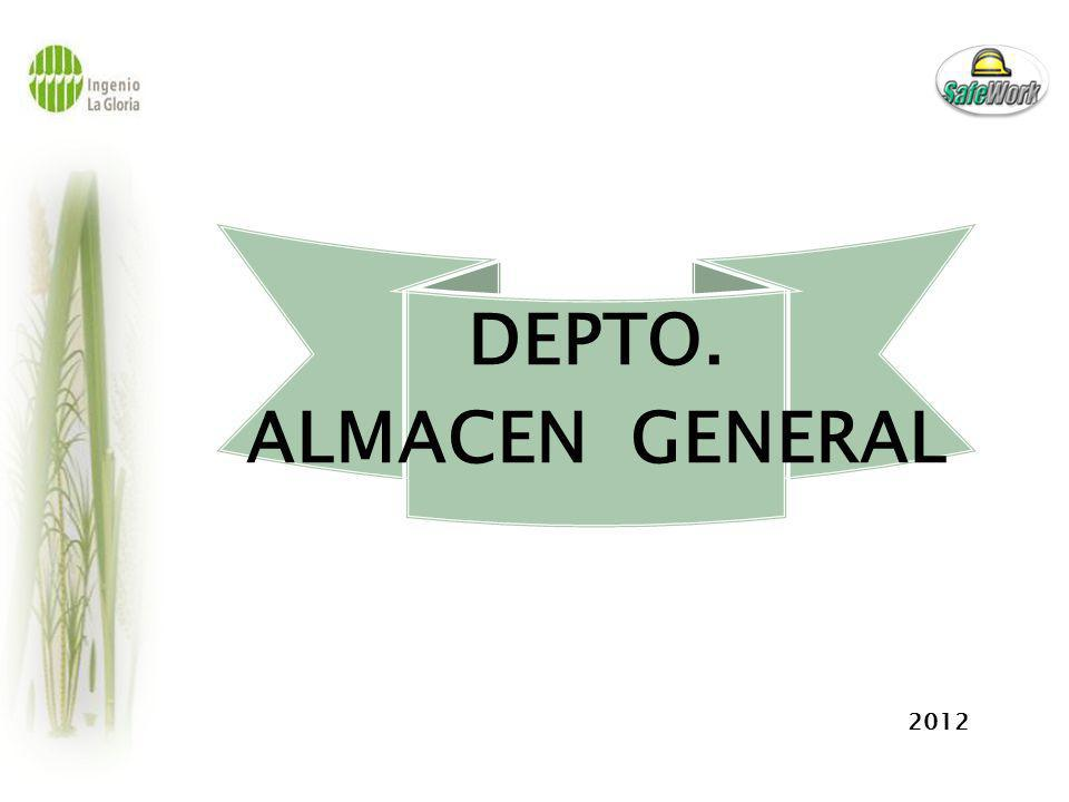 DEPTO. ALMACEN GENERAL 2012