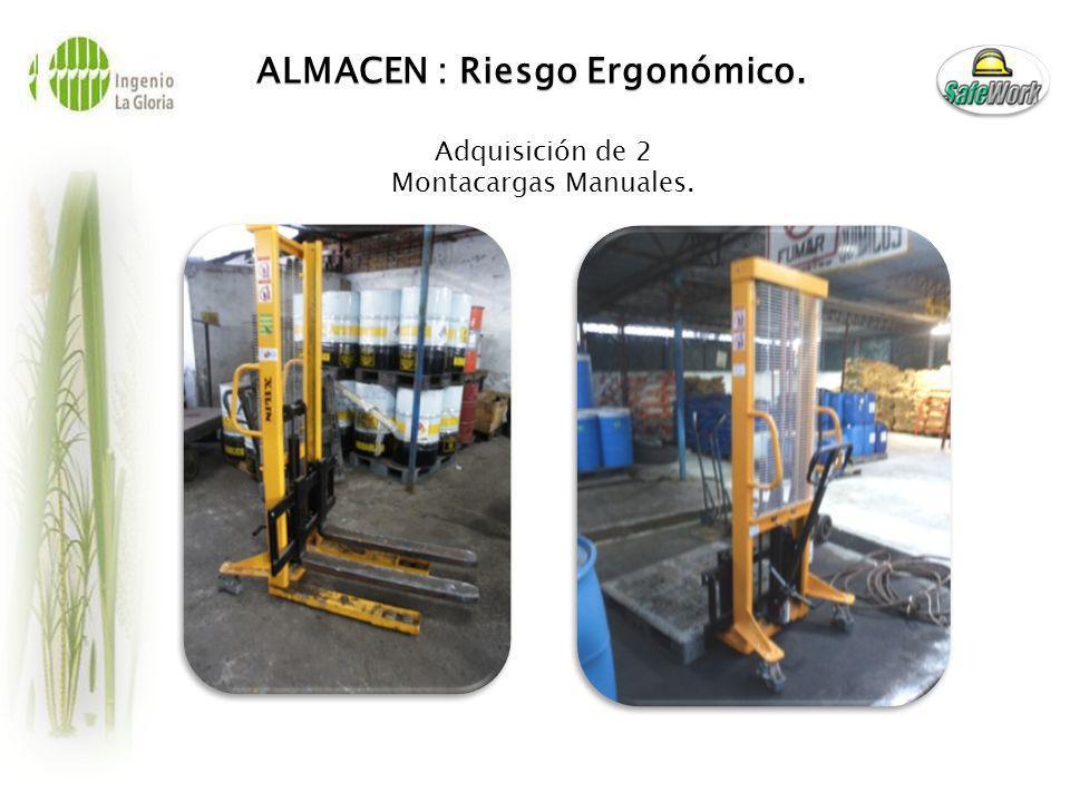 ALMACEN : Riesgo Ergonómico.