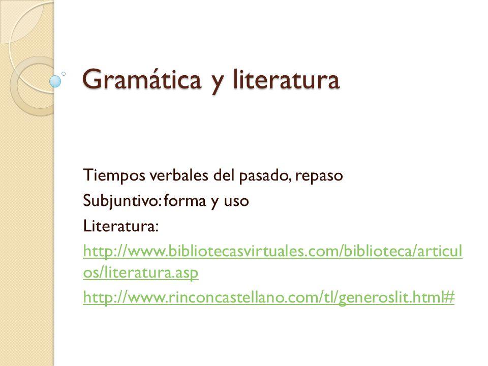 Gramática y literatura