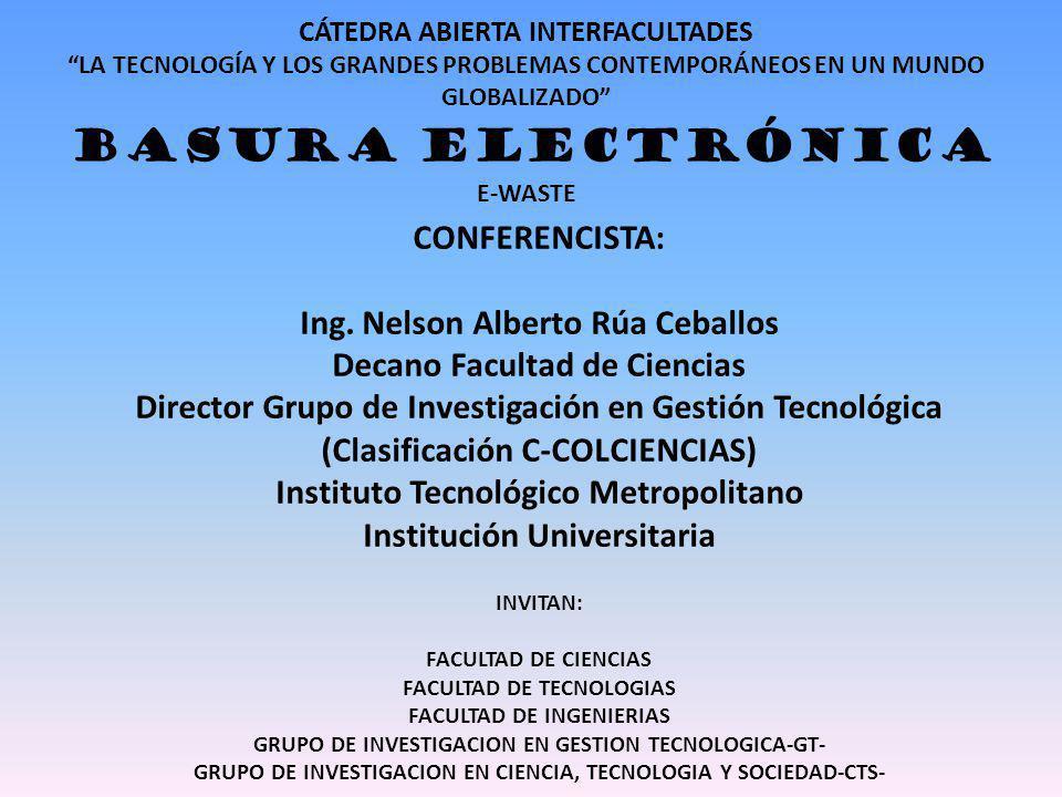 Ing. Nelson Alberto Rúa Ceballos Decano Facultad de Ciencias