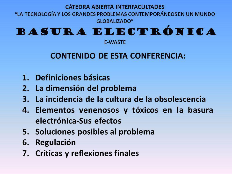 CONTENIDO DE ESTA CONFERENCIA: