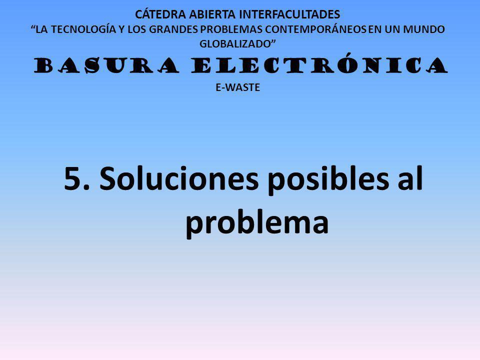 5. Soluciones posibles al problema