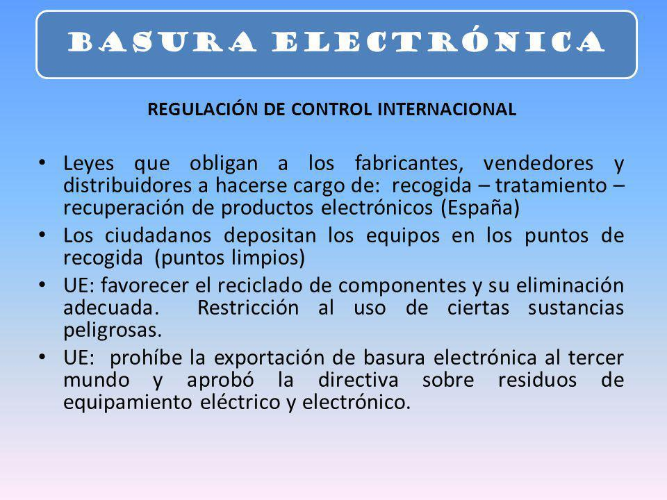 REGULACIÓN DE CONTROL INTERNACIONAL