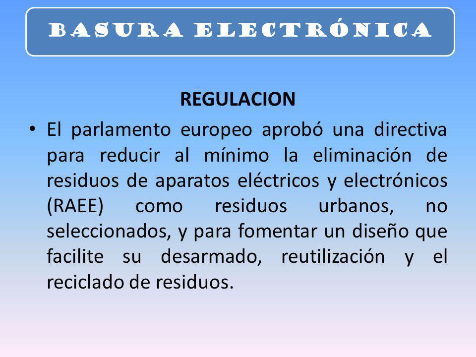 BASURA ELECTRÓNICA REGULACION.