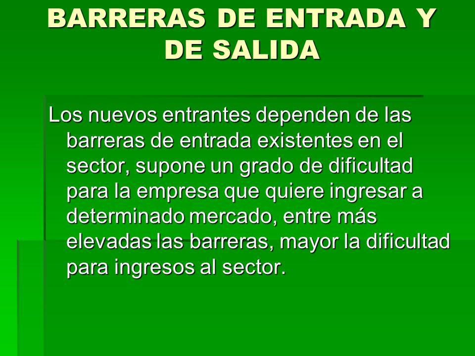 BARRERAS DE ENTRADA Y DE SALIDA