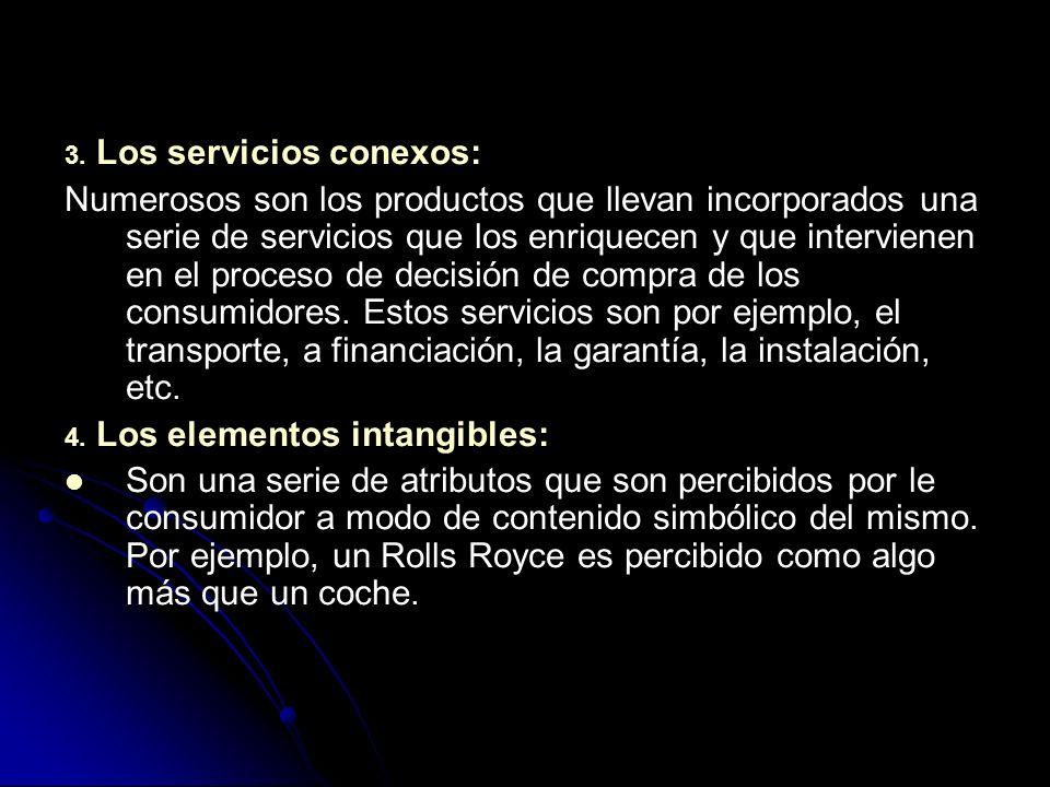 3. Los servicios conexos: