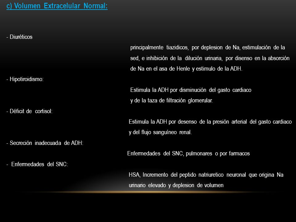 c) Volumen Extracelular Normal: