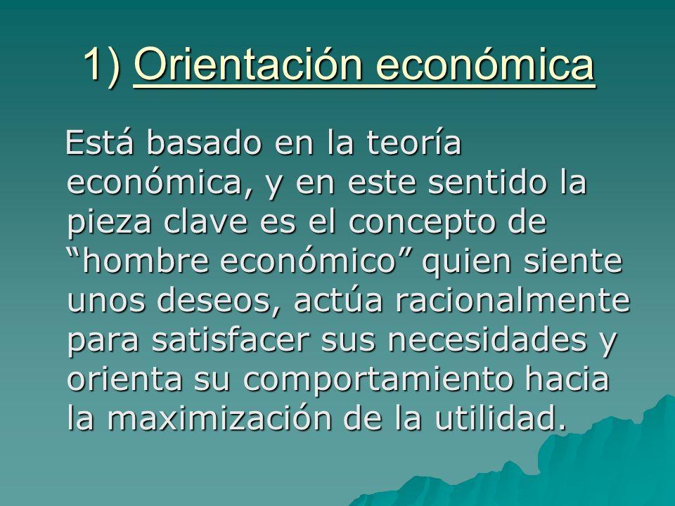 1) Orientación económica