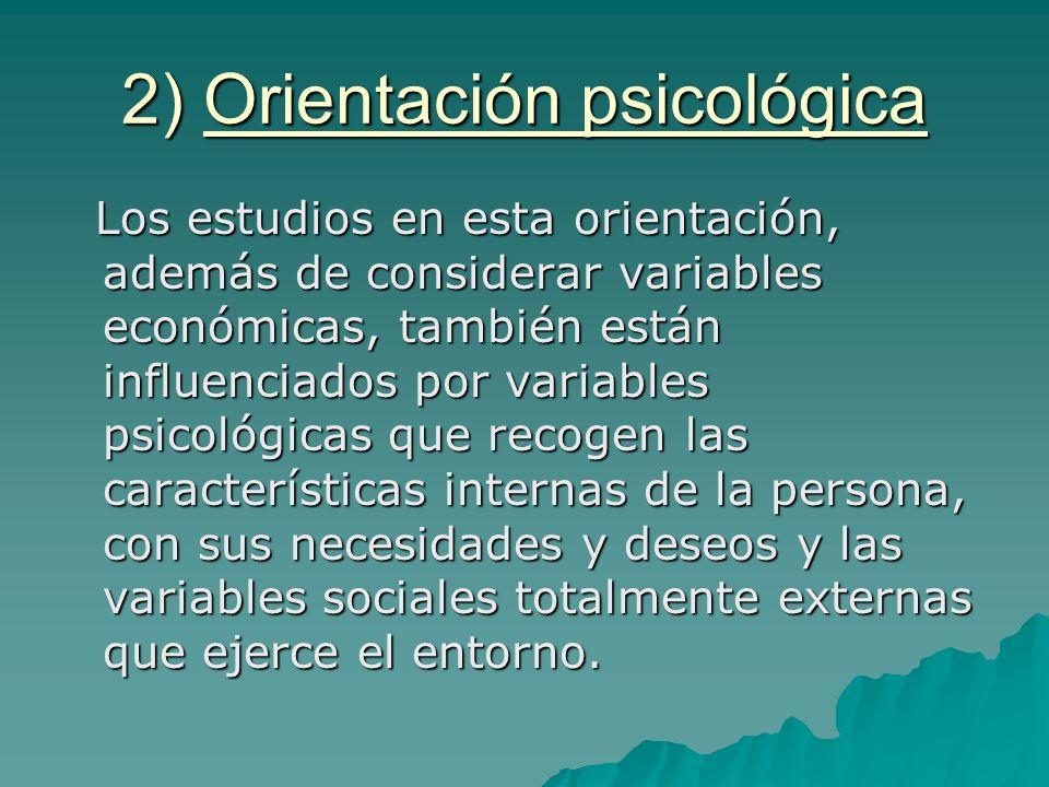 2) Orientación psicológica