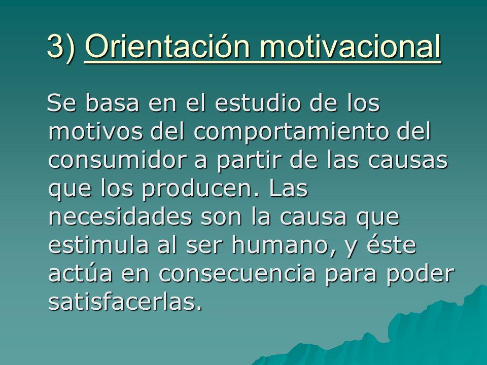 3) Orientación motivacional
