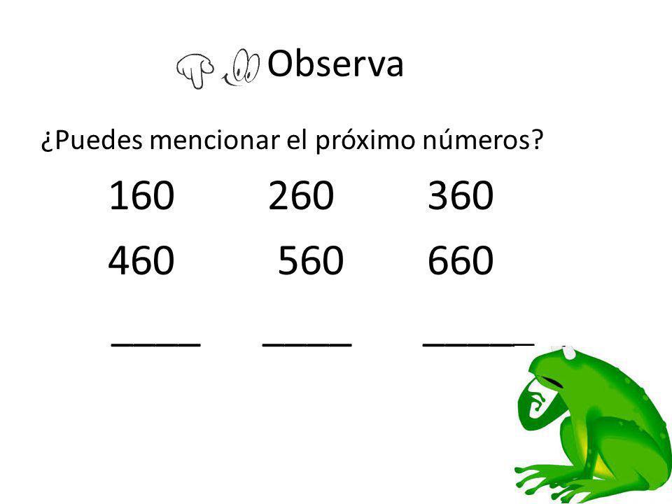 460 560 660 ____ ____ _____ Observa