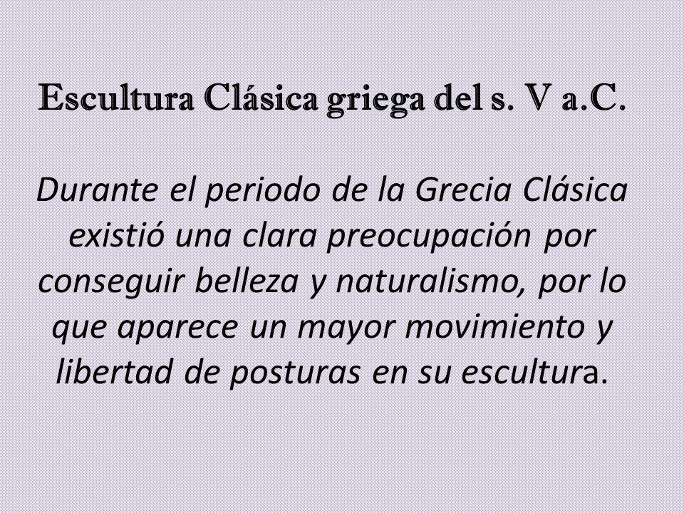 Escultura Clásica griega del s. V a. C