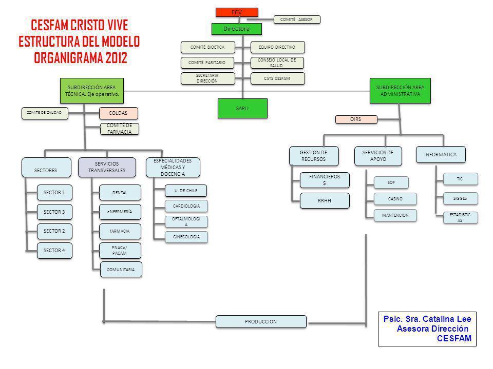 CESFAM CRISTO VIVE ESTRUCTURA DEL MODELO ORGANIGRAMA 2012