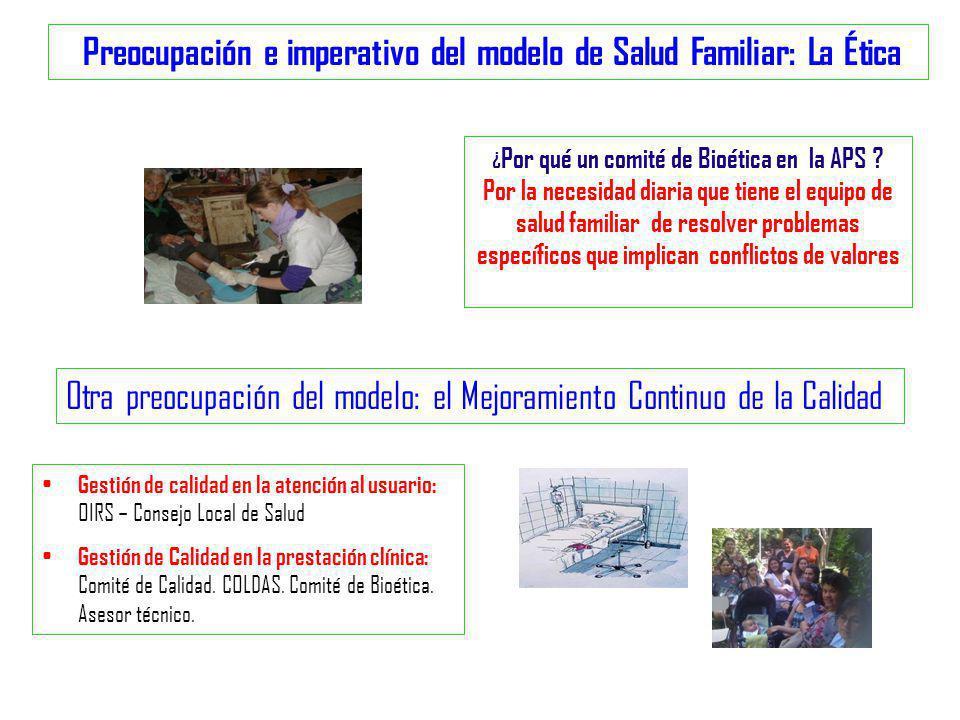 Preocupación e imperativo del modelo de Salud Familiar: La Ética