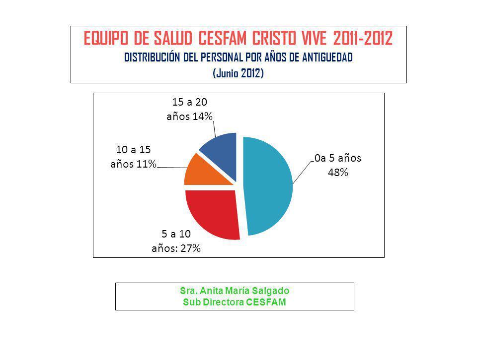 EQUIPO DE SALUD CESFAM CRISTO VIVE 2011-2012