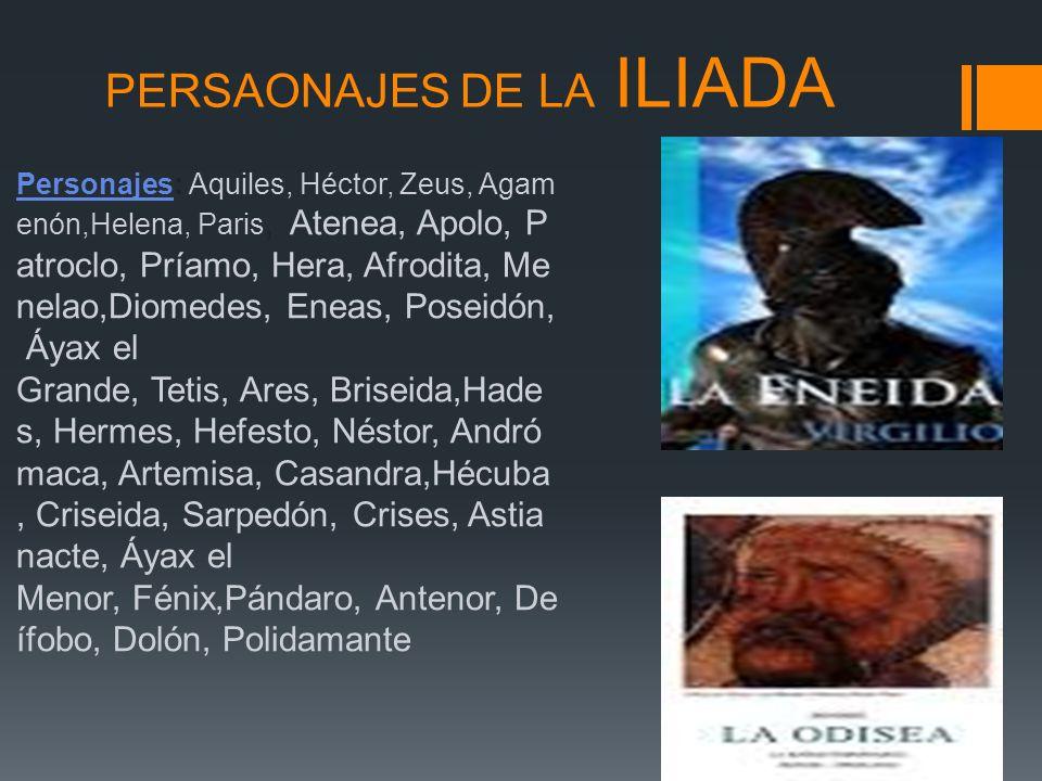 PERSAONAJES DE LA ILIADA