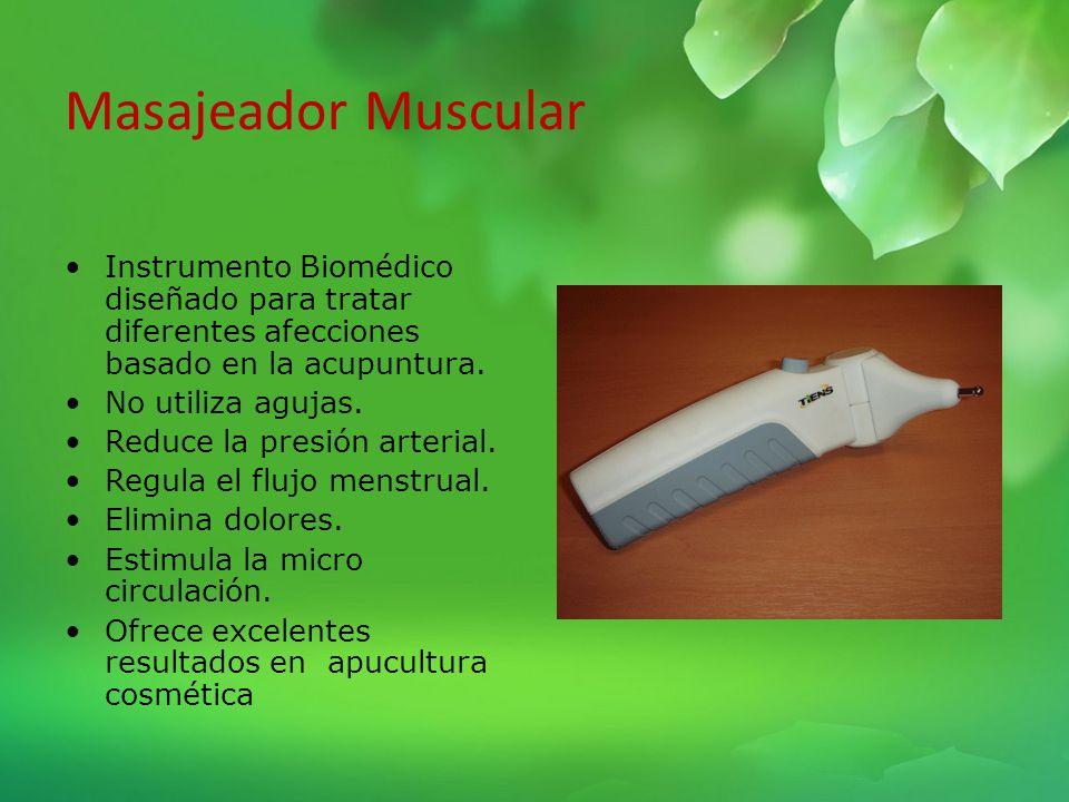 Masajeador Muscular Instrumento Biomédico diseñado para tratar diferentes afecciones basado en la acupuntura.