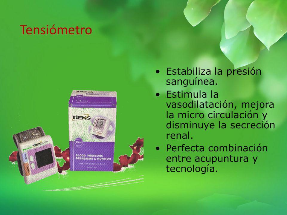 Tensiómetro Estabiliza la presión sanguínea.