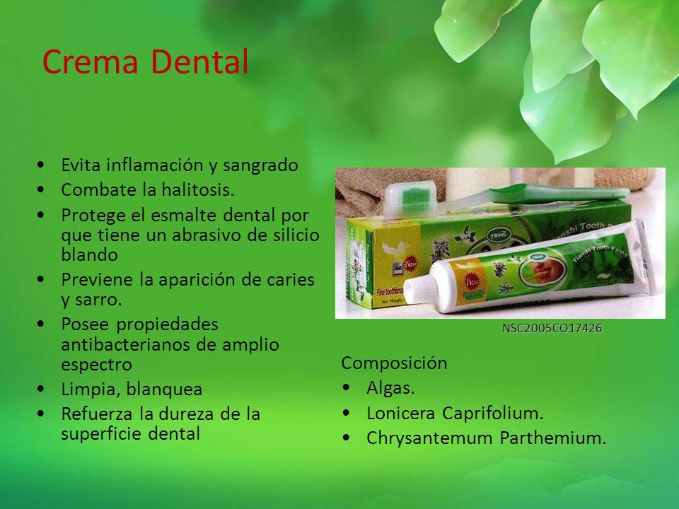 Crema Dental Evita inflamación y sangrado Combate la halitosis.