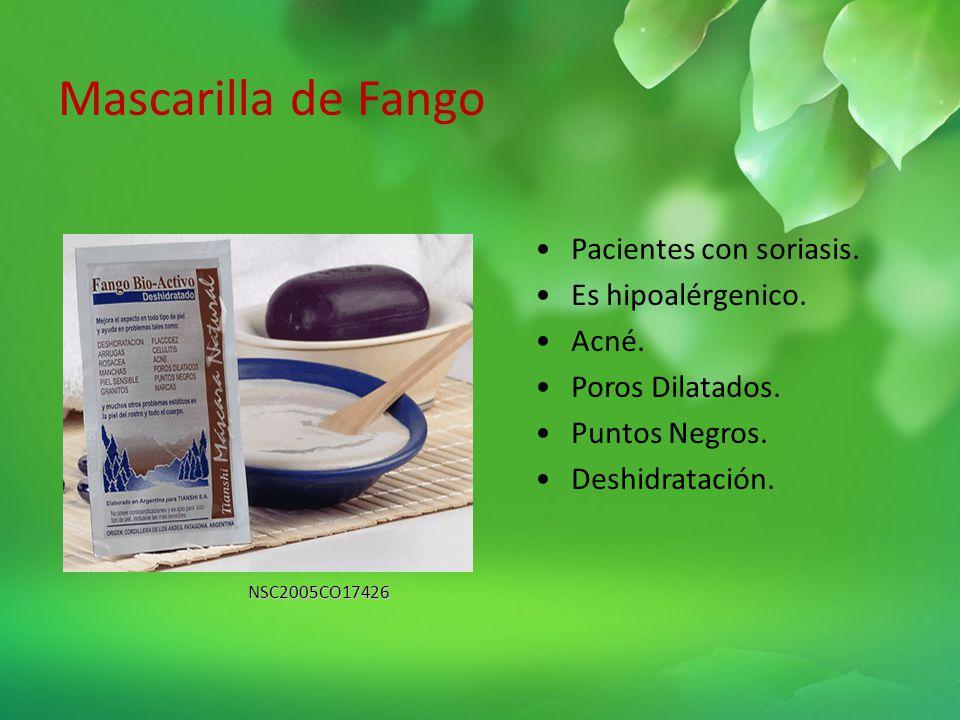 Mascarilla de Fango Pacientes con soriasis. Es hipoalérgenico. Acné.