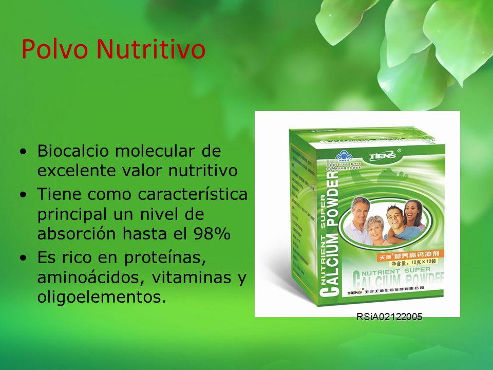 Polvo Nutritivo Biocalcio molecular de excelente valor nutritivo