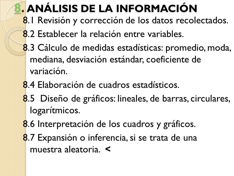 8. ANÁLISIS DE LA INFORMACIÓN