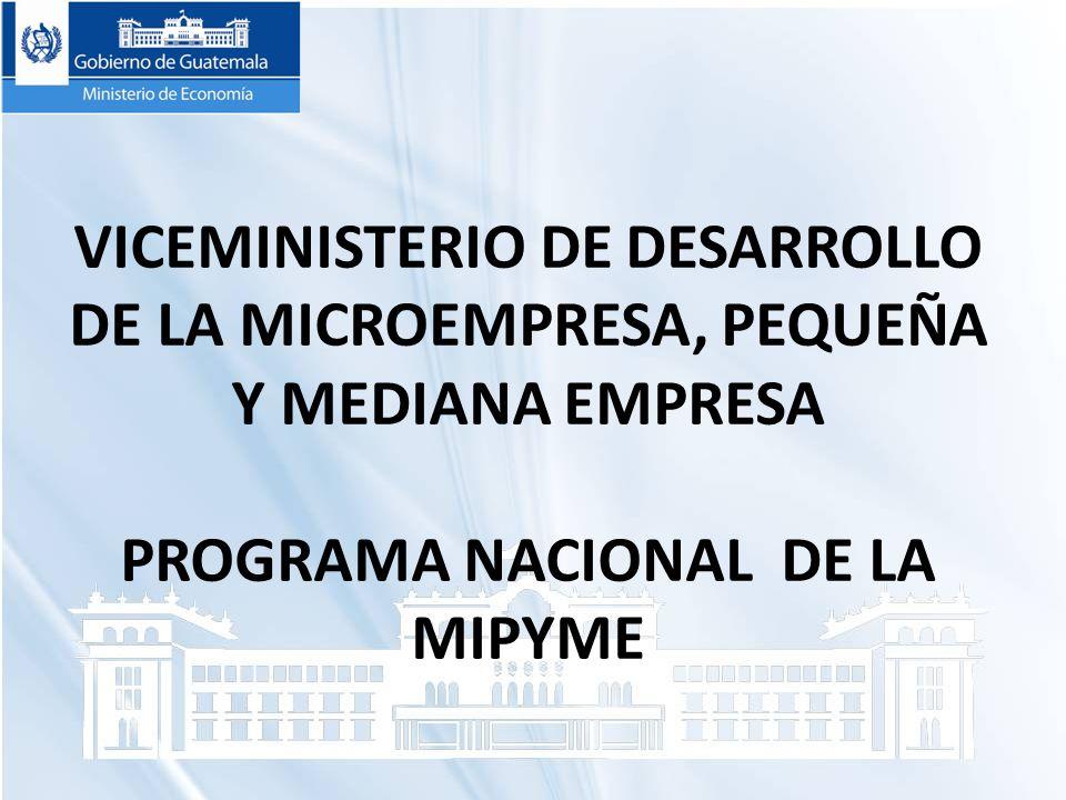 PROGRAMA NACIONAL DE LA MIPYME