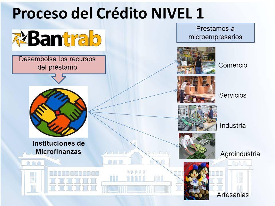 Proceso del Crédito NIVEL 1 Instituciones de Microfinanzas