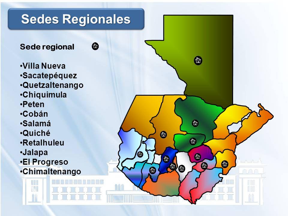 Sedes Regionales Sede regional Villa Nueva Sacatepéquez Quetzaltenango