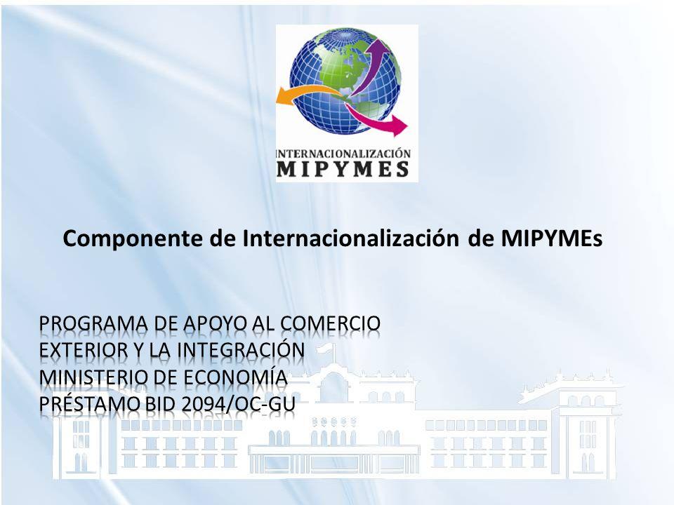Componente de Internacionalización de MIPYMEs