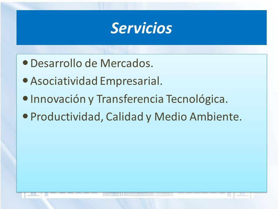 Servicios Desarrollo de Mercados. Asociatividad Empresarial.