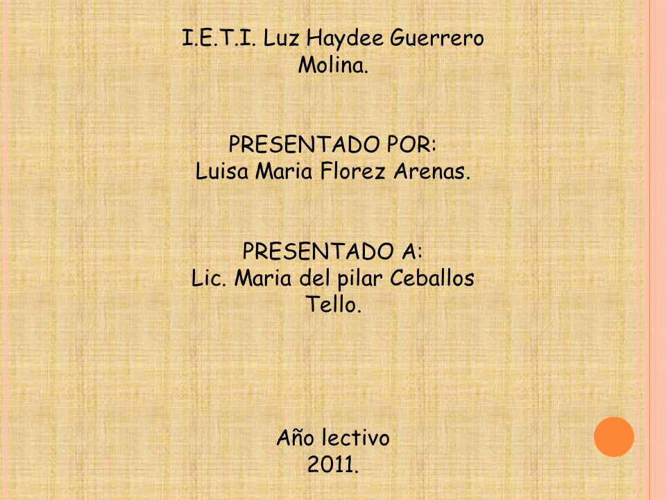 I.E.T.I. Luz Haydee Guerrero Molina.