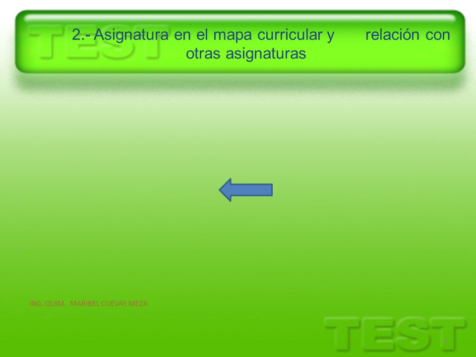 2.- Asignatura en el mapa curricular y relación con otras asignaturas