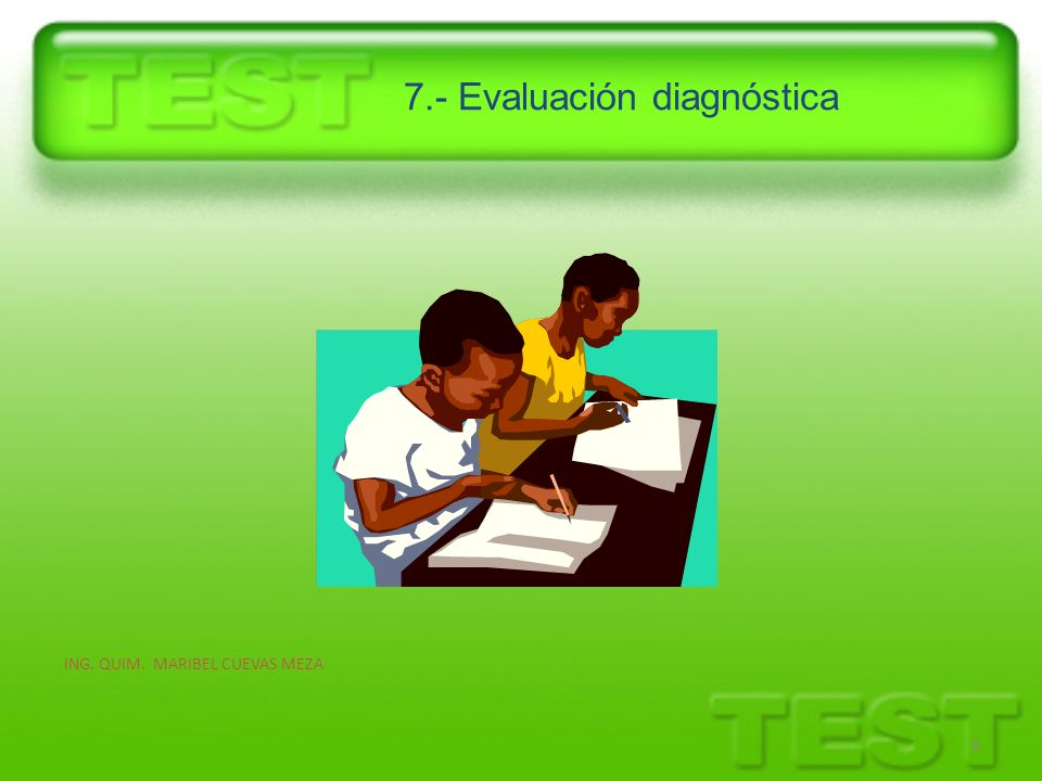 7.- Evaluación diagnóstica