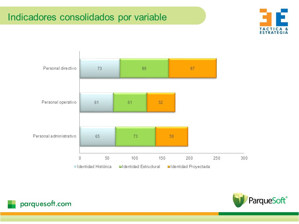 Indicadores consolidados por variable
