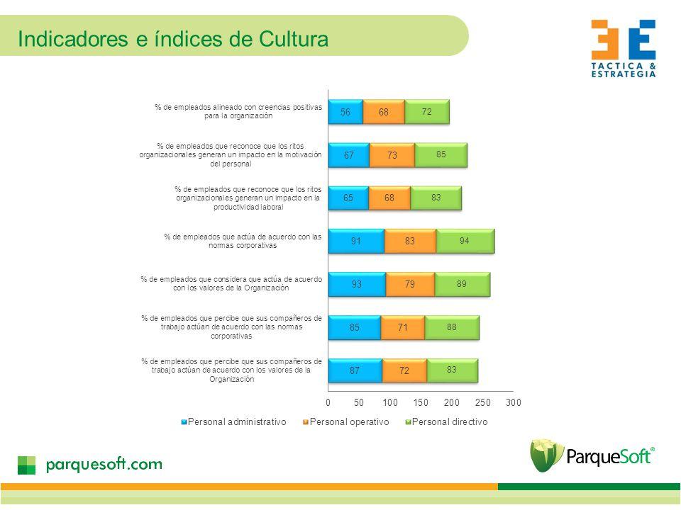 Indicadores e índices de Cultura