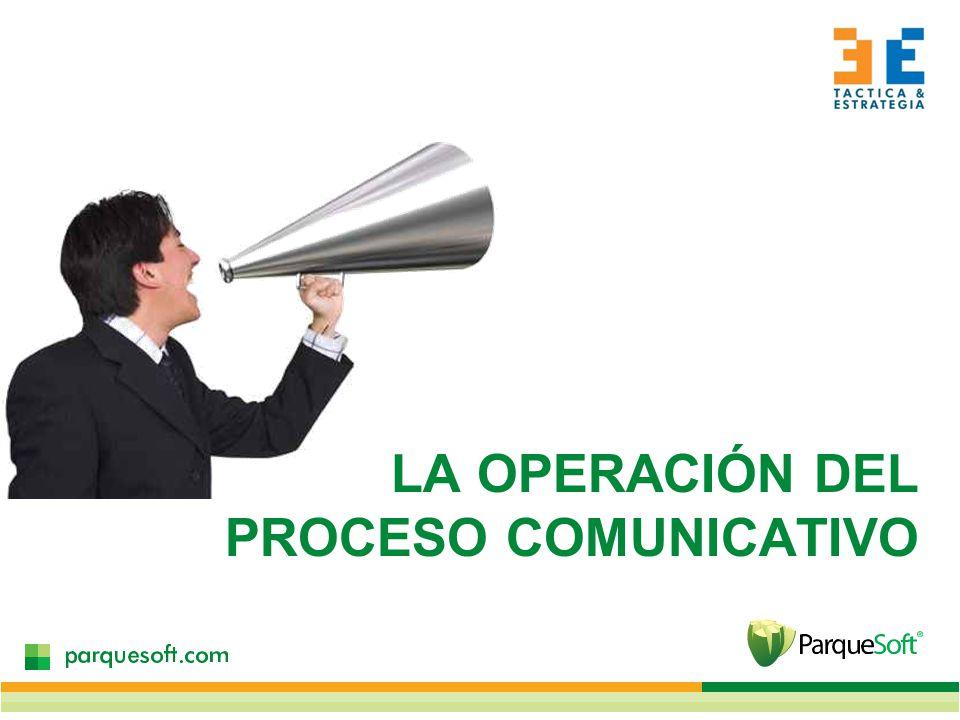LA OPERACIÓN DEL PROCESO COMUNICATIVO