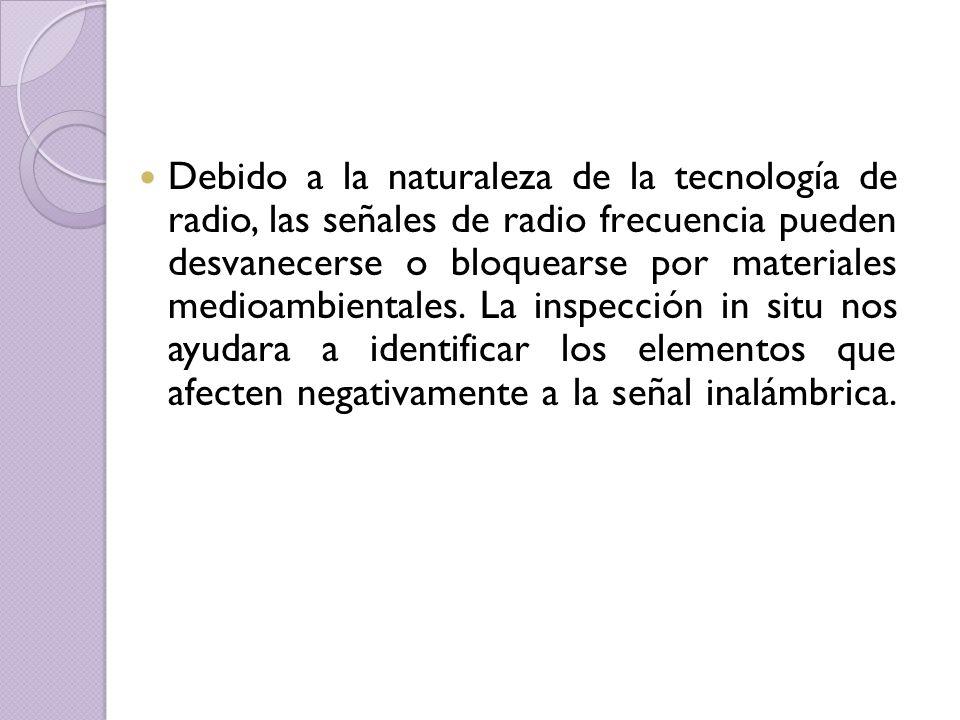 Debido a la naturaleza de la tecnología de radio, las señales de radio frecuencia pueden desvanecerse o bloquearse por materiales medioambientales.