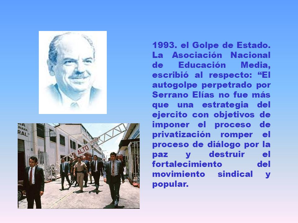 1993. el Golpe de Estado.