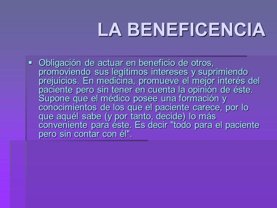 LA BENEFICENCIA
