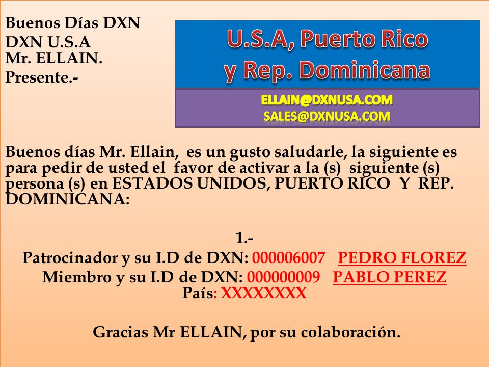 U.S.A, Puerto Rico y Rep. Dominicana