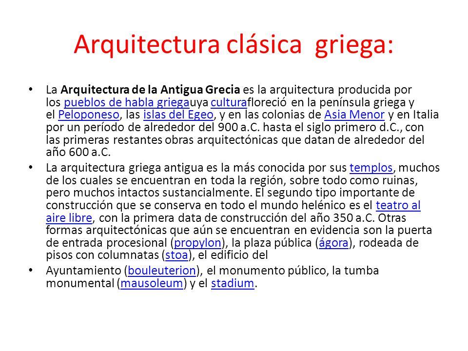 Arquitectura clásica griega: